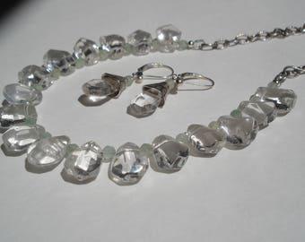 Crystal Quartz & Sterling Set