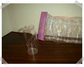 Small Clear Acrylic Cloche Container/ Single OR Set of 6 / Craft Supplies*