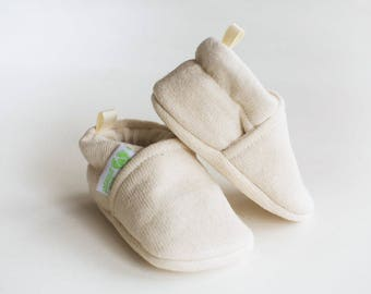 Cotton & Wool / All fabric Soft Sole Baby Shoes / Made to Order / Babies