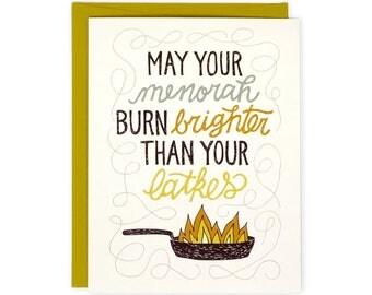 Funny Hanukkah Card - Latkes