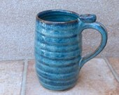 Large mug beer stein tankard wheel thrown stoneware pottery handmade hand thrown ceramic