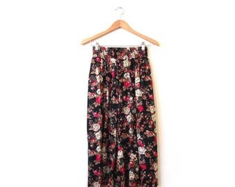 30% OFF Vintage 80s High Waist Floral Grunge Culottes xs s