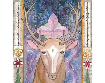 Yule Buck Print