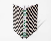 Twin Peaks Journal | Black and White Chevron, Black Lodge, Coptic & French Link Stitch, Medium