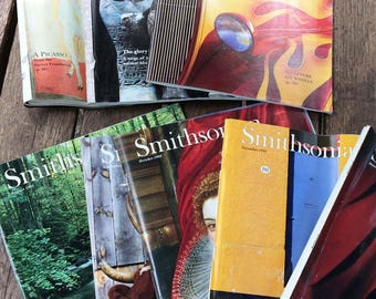 Lot 12 Vintage Smithsonian Magazines, Complete 1993 January February March, April, May June July August September October November December