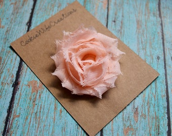 Shabby Light Peach Flower Hair Clip