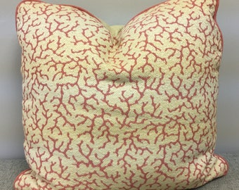 Coral Slub 20 inch PILLOW Cover