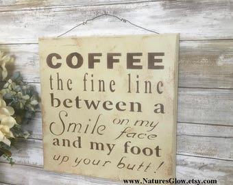 Coffee Sign, Coffee Wall Decor, Coffee Lover Gift, Coffee Bar, Kitchen Coffee Decor, Coffee Decor, Coffee Home Decor, Coffee Lover Sign