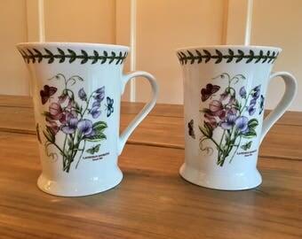 Pimpernel Portmeirion Potteries 8013 botanic Gardens set of two 2 Mugs coffee tea
