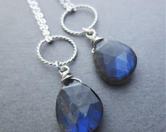 Labradorite Sterling Silver Pendant Necklace EE Designs QTY 1