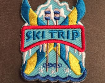 Ski Trip Merit Badge Mountain Skis icicles Patch