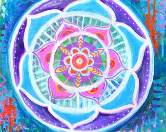 Bloom Mandala // Original Acrylic Painting - 12 x 12