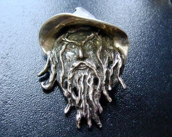 WIZARD WARLOCK WITCH Sterling Silver Studio Artisan Hand Made Pendant 21 grams