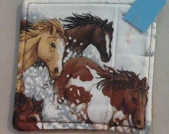 Coaster, Horses in the Snow 234508
