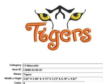 Embroidery Machine File 13000-03-05-07-Tigers