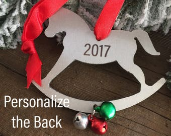 2017 Christmas Ornament Rocking Horse New Baby Christmas Ornament Christmas Tree Ornament New Baby Gift