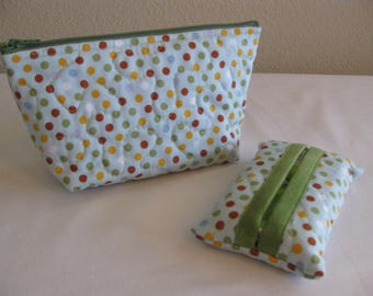 Dots Quilted Pouch Set