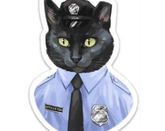 "Officer Tom 4"" Magnet"