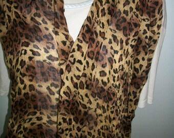 Selection Leopard animal print Scarf on Sale rayon or Fleece
