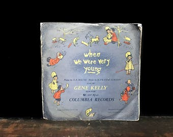 When We Were Very Young, Rare Vinyl Record Set, Poems By A.A. Milne, Winnie The Pooh, Sung By Gene Kelly, Disney Music, Piglet