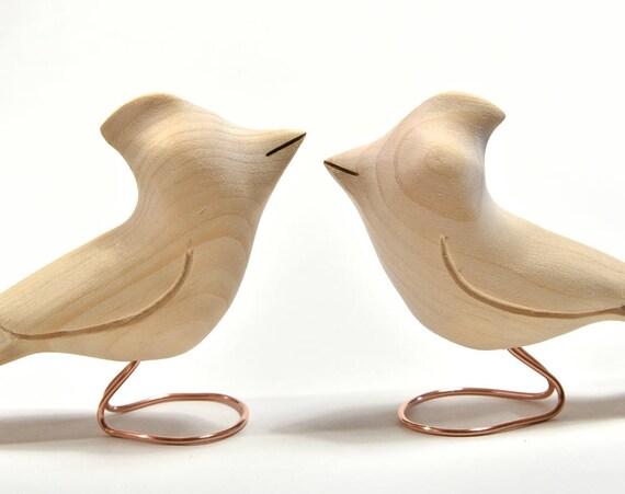 Unfinished wooden birds cardinals adult craft spring