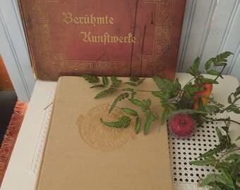Antique Coffee Table Book Set - Photographic Art Portfolio's - Czech Republic Prague Landmarks German Bohemian - European Architecture