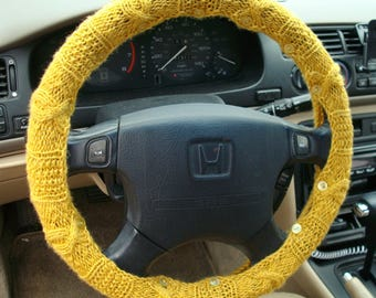 RESERVED for CHRIS - Golden Yellow Steering Wheel Cover