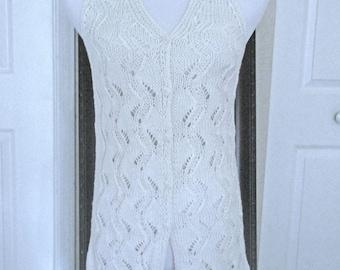 White summer cotton blend cardigan no. 290