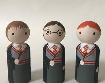 Harry Potter Trio - Wooden Peg Doll Set