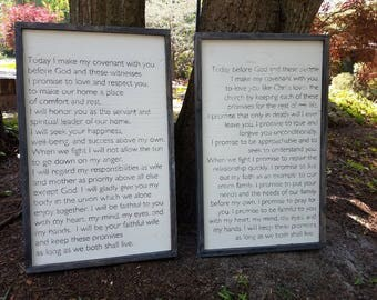 Wedding Vow Wood Prints