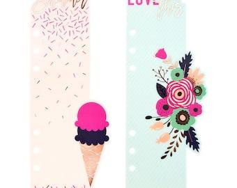 Good Vibes My Prima Planner Plastic Bookmark Divider 2/Pkg (593186)
