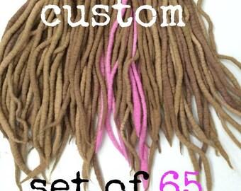 Wool Dreadlocks - Custom Set of 65