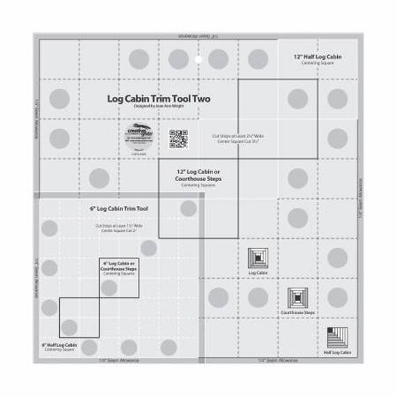 creative grids ruler quilting log cabin trim tool 6in 12in blocks quilt ruler quilt template. Black Bedroom Furniture Sets. Home Design Ideas