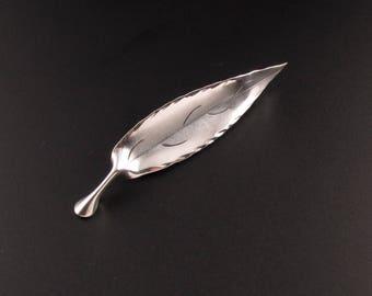 Sterling Silver Leaf Brooch, Stuart Nye Brooch, Silver Brooch, Sterling Brooch. Leaf Pin