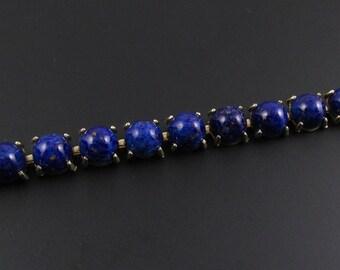 Faux Lapis Lazuli Bracelet, Blue Glass Bracelet, Blue Bracelet, Faux Stone Bracelet