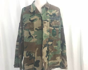 Vintage Air Force Camoflaige Field Jacket S/M