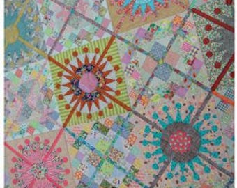 Queen's Cross Quilt Pattern by Jen Kingwell