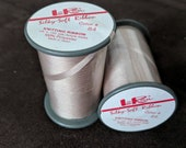 LoRan Knitting Ribbon - Beige Crochet Ribbon, Silky Polyester Ribbon for Knitting or Ribbon Embroidery - Made In Japan - 2 spools