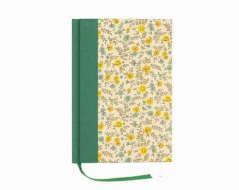 green yellow floral Weekly Planner 2018 cornflowers, small weekly planner, A6 weekly diary, one week on two pages