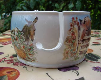 Barnyard Buddies! Ceramic Yarn Bowl / Yarn Holder