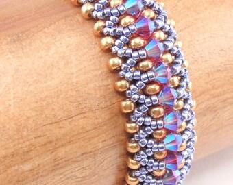 Beading Tutorial for Kaleidoscope Bracelet, beading tutorials, bracelet tutorials, beadweaving tutorials, beadwoven tutorials