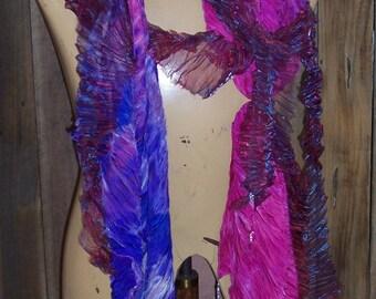 Purple Arashi Shibori Wrappings