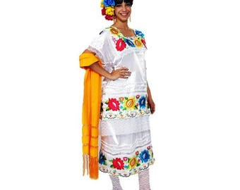 CHILD Mexican Yucatan Costume Disfraz