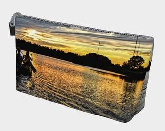 Sunset Canoeing Make Up Bag