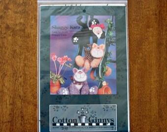 Stuffed Animals Pattern, Vintage Sewing Pattern Toy Cats, Shaggy Katz Pattern # SK65 by Cotton Ginnys