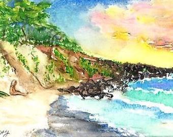 Surfer Frank on Little Beach, Makena, Maui, Hawaii