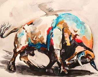 El Toro- Acrylic painting