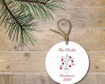 Personalized Christmas Ornament, Christmas Ornament,  Christmas Tree Ornament, Christmas Lights, Funny Christmas Ornament