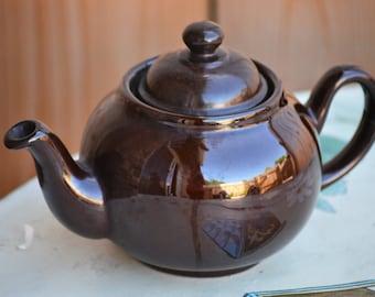 Small Teapot/Brown Teapot/Small Brown Betty/Earthenware Teapot/Ceracraft /Tea Decanter/Traditional Teapot/80s