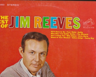 1964 RCA Victor Records The Best of Jim Reeves LP Record Music Country
